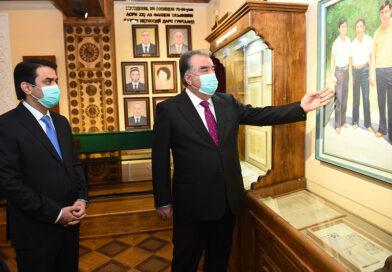 Открытие Музея Лидера нации в Таджикском национальном университете с участием Главы государства Эмомали Рахмона