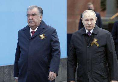 Президент Республики Таджикистан Эмомали Рахмон посетил Военный парад, посвященный 76-летию Победы в Москве