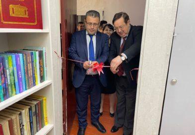 Торжественном открытии новой библиотеки в помещении издания Правительства Республики Таджикистан «Народная газета»